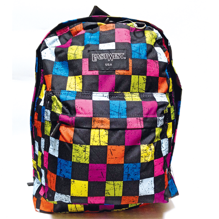 mochila juvenil east west con estampado