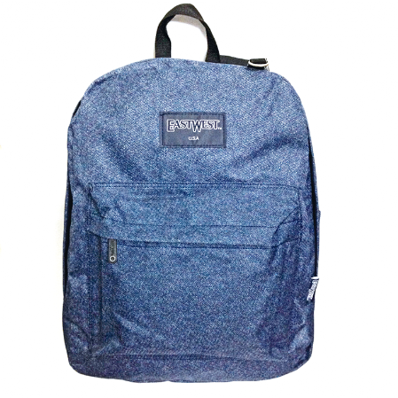 mochila juvenil east west en color azuo